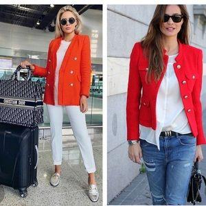 Christian DIOR Vintage Red Tweed Jacket 10